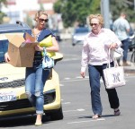 Pregnant Katherine Heigl seen carrying a cardboard box while out and about her mother Nancy
