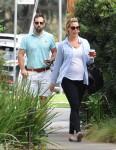 Pregnant Katherine Heigl leaves Messhall Kitchen with husband Josh Kelley