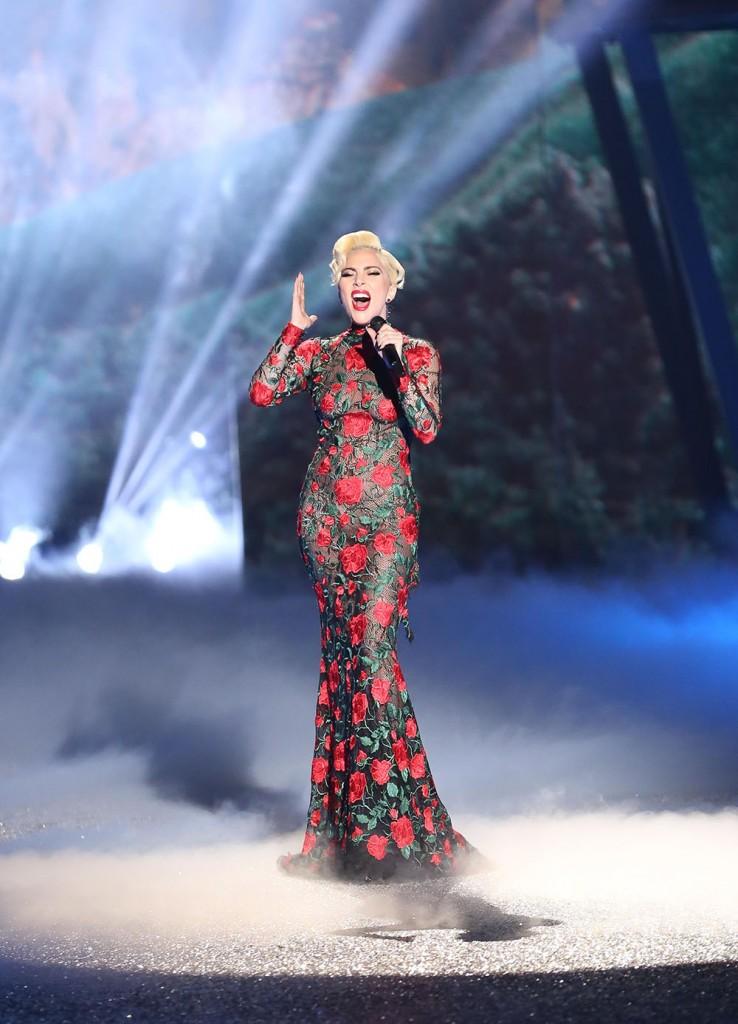Lady Gaga performing at Victoria's Secret 2016 Fashion Show
