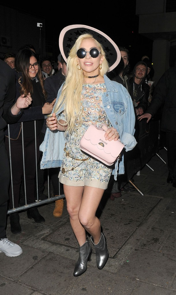 Lady Gaga leaving Tape nightclub, before heading to a post production studio in Soho
