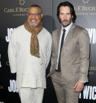 Keanu Reeves and Laurence Fishburne at John Wick: Chapter2 Premiere in Hollywood