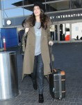 George Clooney & Pregnant Amal Alamuddin Arriving On A Flight At LAX