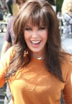 Marie Osmond greets fans at 'Extra' in Hollywood