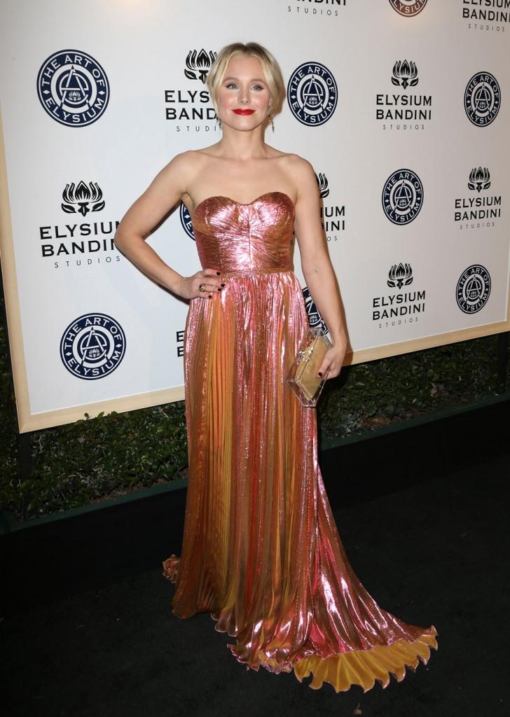 wenn30698692  bitchy | Kristen Bell in Maria Lucia Hohan on the Artwork of Elysium gala: fairly or pepto tin foil? wenn30698692