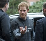 Prince Harry meeting with staff of The Running Charity, which is the UK's first running-orientated programme for homeless and vulnerable young people, in Willesden in north west London.
