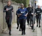 Prince Harry out running with staff and users of The Running Charity, which is the UK's first running-orientated programme for homeless and vulnerable young people, in Willesden in north west London.