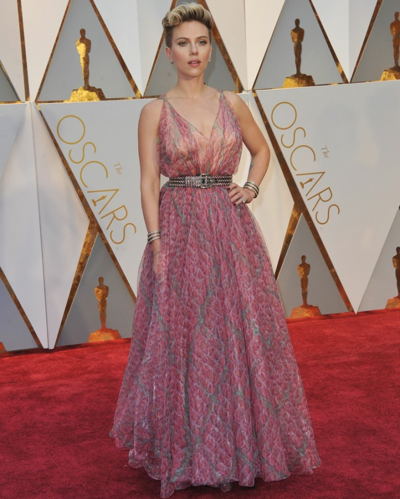 Scarlett Johansson at The 89th Annual Academy Awards in Hollywood