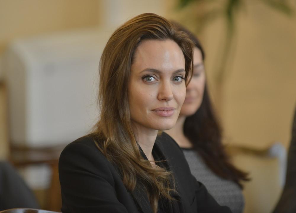 Angelina Jolie and William Hague in Sarajevo