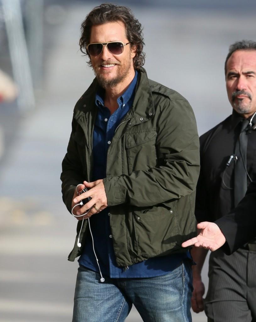 Matthew McConaughey seen arriving at the ABC studios