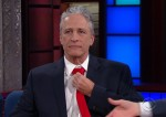 Jon Stewart during an appearance on CBS's 'The Late Show with Stephen Colbert.'