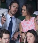 Pippa Middleton and boyfriend James Matthewson day nine of the Wimbledon Tennis Championships in London
