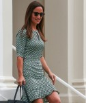 Newly engaged Pippa Middleton leaves her West London home