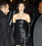 Bella Hadid arrives at the Chrome Hearts X Bella Hadid collaboration launch