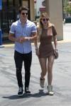 Bella Thorne and ex boyfriend Gregg Sulkin get breakfast then stop at Walgreens in Los Angeles