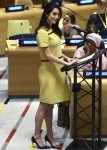 Amal Clooney speaking at United Nations human rights meeting