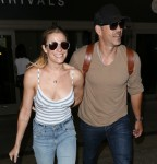LeAnn Rimes and Eddie Cibrian at Los Angeles International Airport