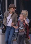 Naomi Watts out and about with her children
