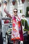 Celine Dion leaving her hotel in Paris