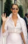 Celine Dion leaving the Royal Monceau Hotel