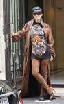 Celine Dion leaves the Royal Monceau hotel