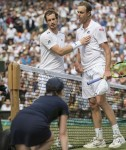 Defending champion Andy Murray loses his quarter final match against Sam Querrey at The 2017 Wimbledon Tennis Championships