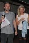 Ben Affleck and Lindsay Shookus grab a piece of pizza