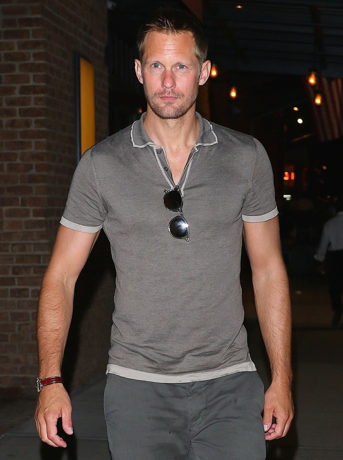 Alexander Skarsgard steps out for the evening in Tribeca