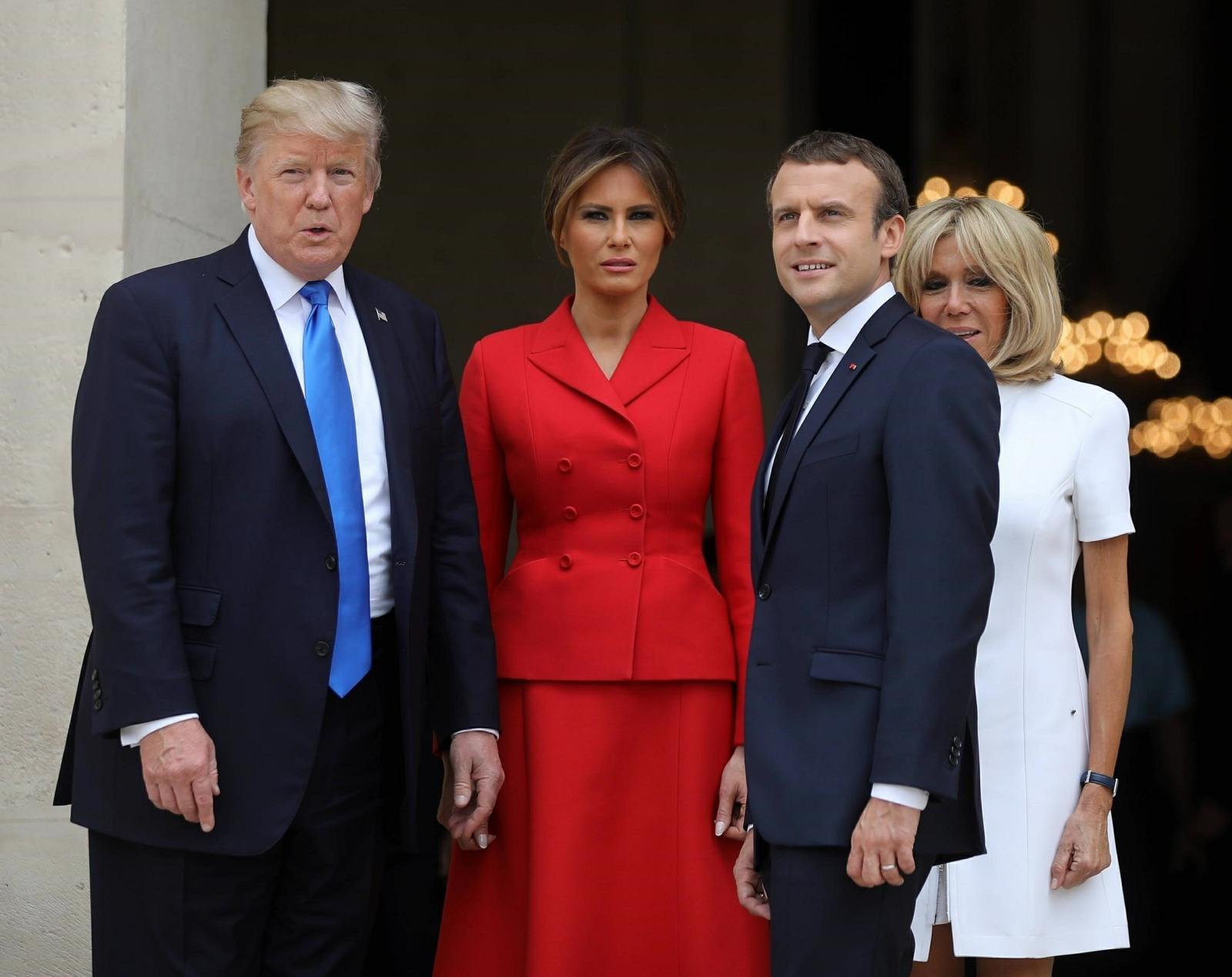 US President Donald Trump visits Paris for talks