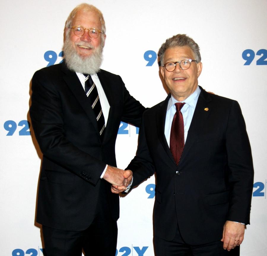 Late Show Host David Letterman interviews Senator Al Franken at the 92nd Street Y
