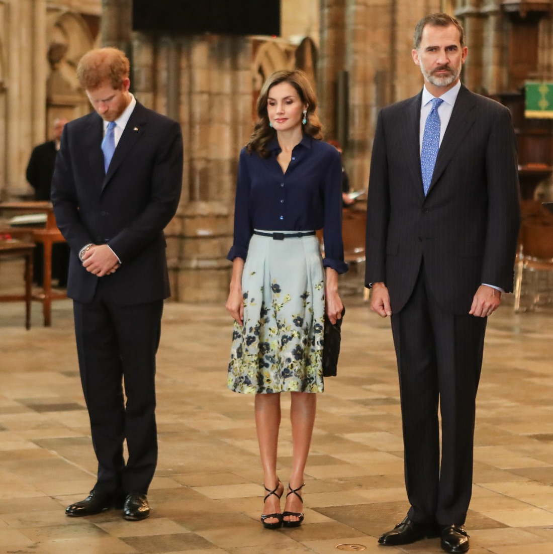 King Felipe and Queen Letizia of Spain visit Westminster Abbey, accompanied by Prince Harry