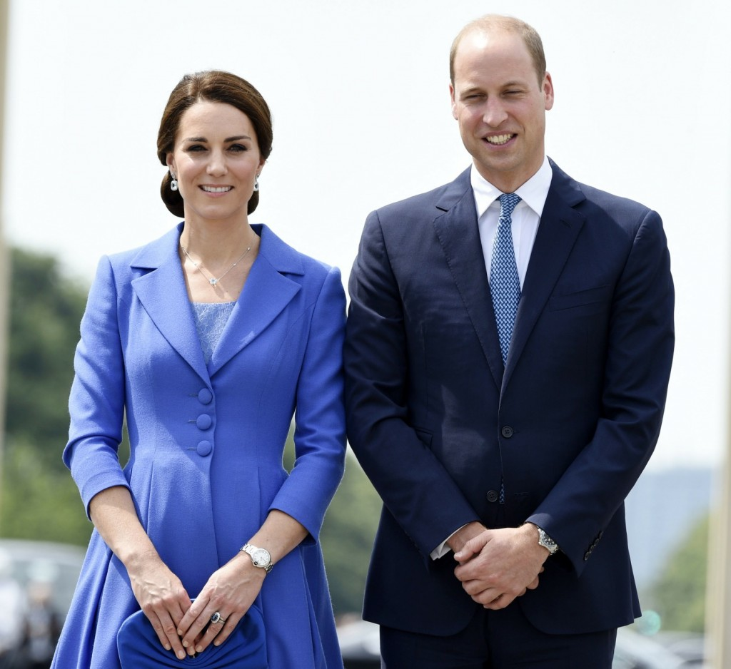 The Duke and Duchess of Cambridge visit the Brandenburg Gate in Berlin