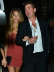 Robin Thicke and April Love Geary out for dinner at Tao restaurant in Hollywood