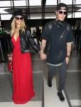 Paris Hilton arrives at LAX
