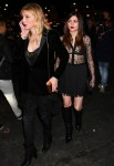 Courtney Love and Frances Bean Cobain leave the Saint Laurent show in Paris