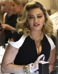 Madonna promotes her MDNA Skin line at Barneys New York on Madison Avenue