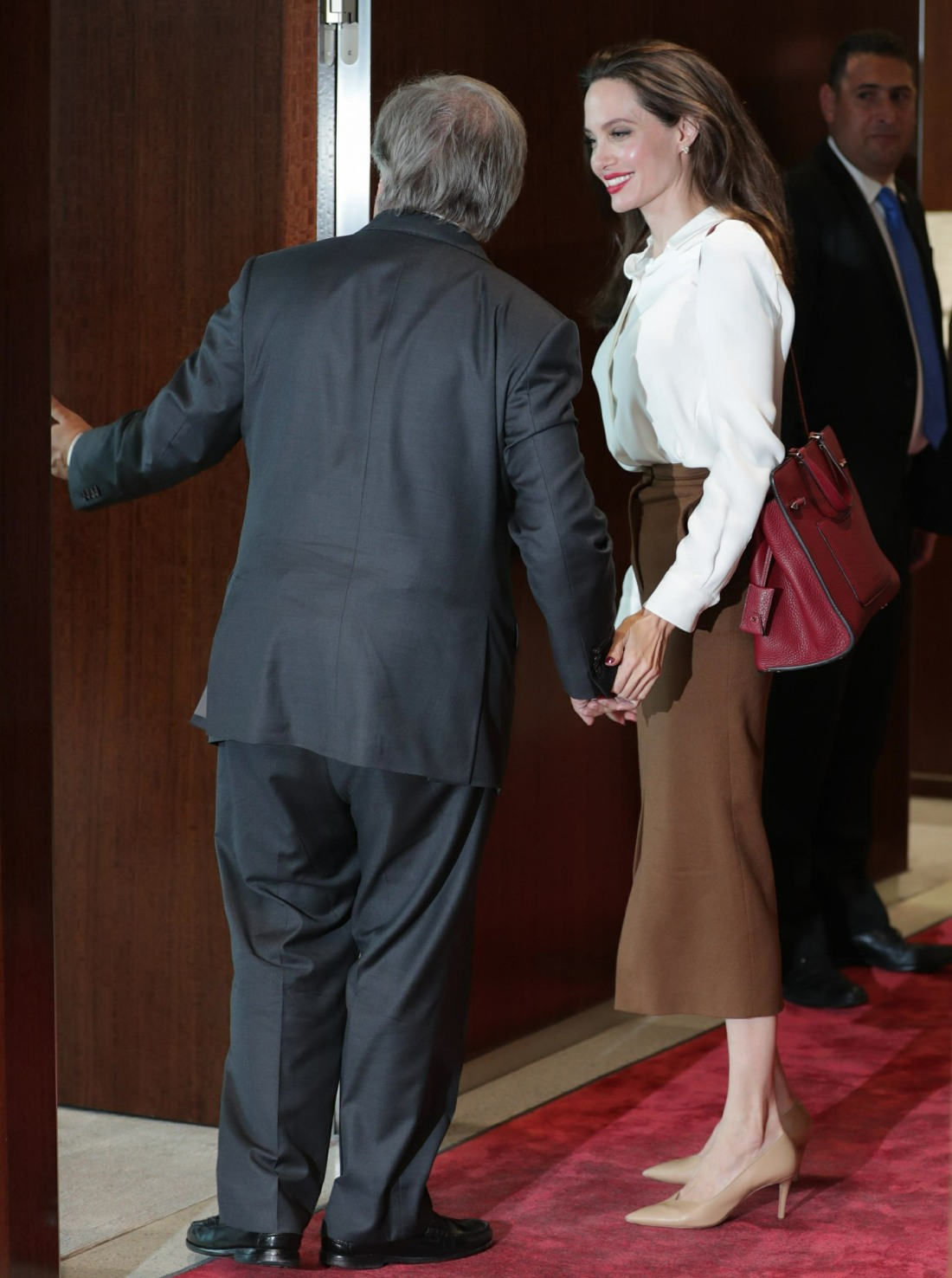 Angelina Jolie and General Antonio Guterres attend the United Nations in New York