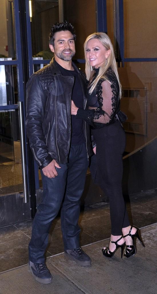 Tamra and Eddie Judge leaving WWHL