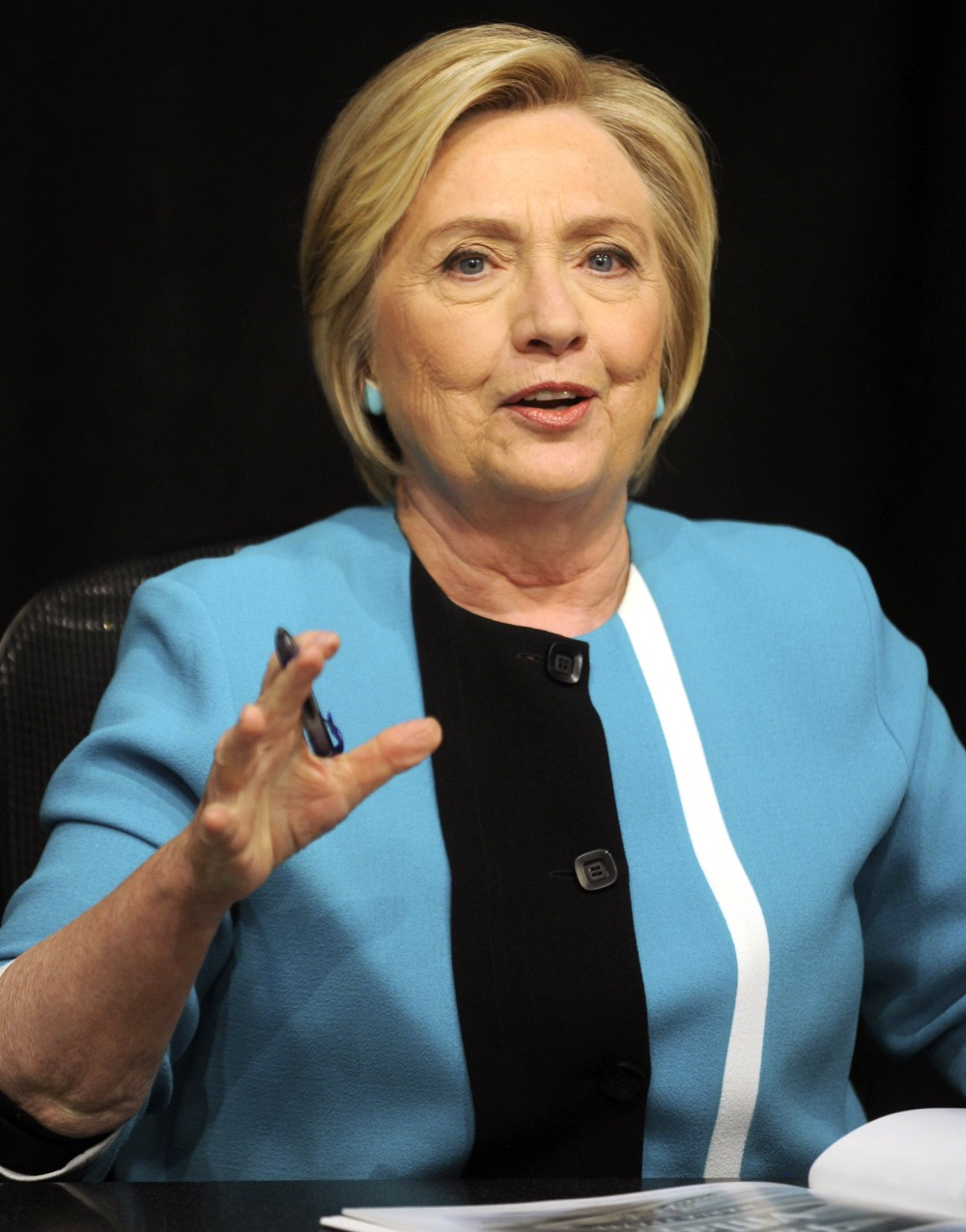 Hillary Clinton signs copies of her book 'What Happened' at Barnes & Noble 33 E 17th St. New York