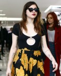 Courtney Love and Frances Bean Cobain go shopping at Yves Saint Laurent