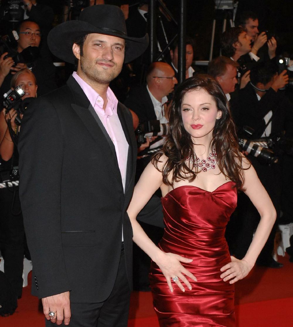 Rose McGowan y Robert Rodriguez