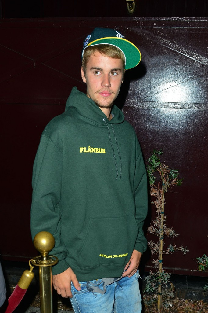 Justin Bieber leaves The Peppermint Club