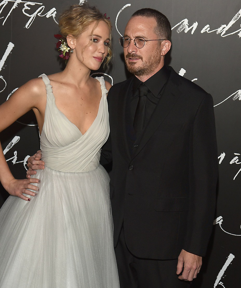 Jennifer Lawrence , Darren Aronofsky at the New York Premiere of Paramount Pictures' Mother! at Radio City Music Hall
