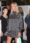 Lindsay Shookus, girlfriend of Ben Affleck, wears a loose dress fueling the speculation that she is pregnant while seen after attending a Pre Emmy Party at The Chateau Marmont