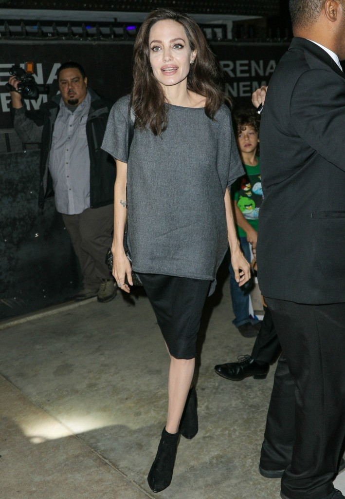 Angelina Jolie arrives for a Q&A at Egyptian Theatre