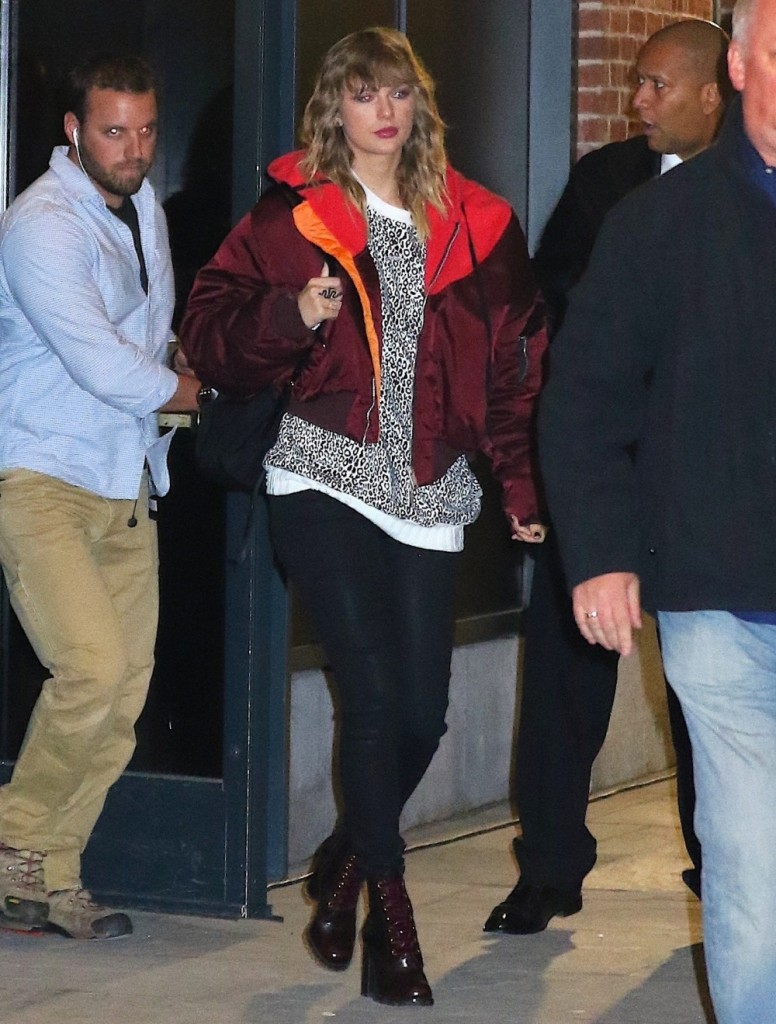 Taylor Swift seen leaving secret performance in NYC