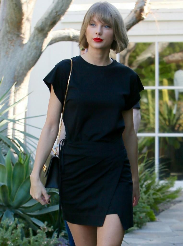 Taylor Swift seen leaving Isabel Marant