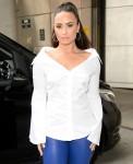 Demi Lovato arrives at BBC Radio 1