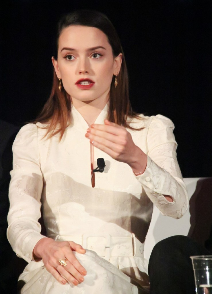 Daisy Ridley at the 'Star Wars: The Last Jedi' global press conference held at Intercontinental Los Angeles Downtown