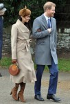 Meghan Markle and Prince Harry at Sandringham Church for the royal family's traditional Christmas Day service