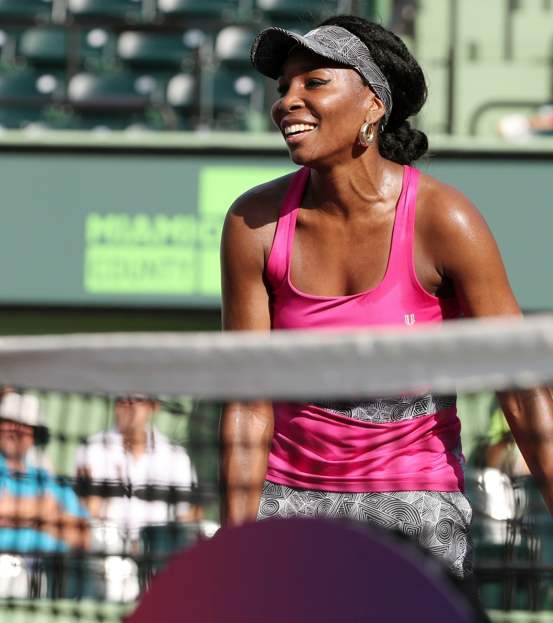 Venus Williams gives it her all during the Miami Open